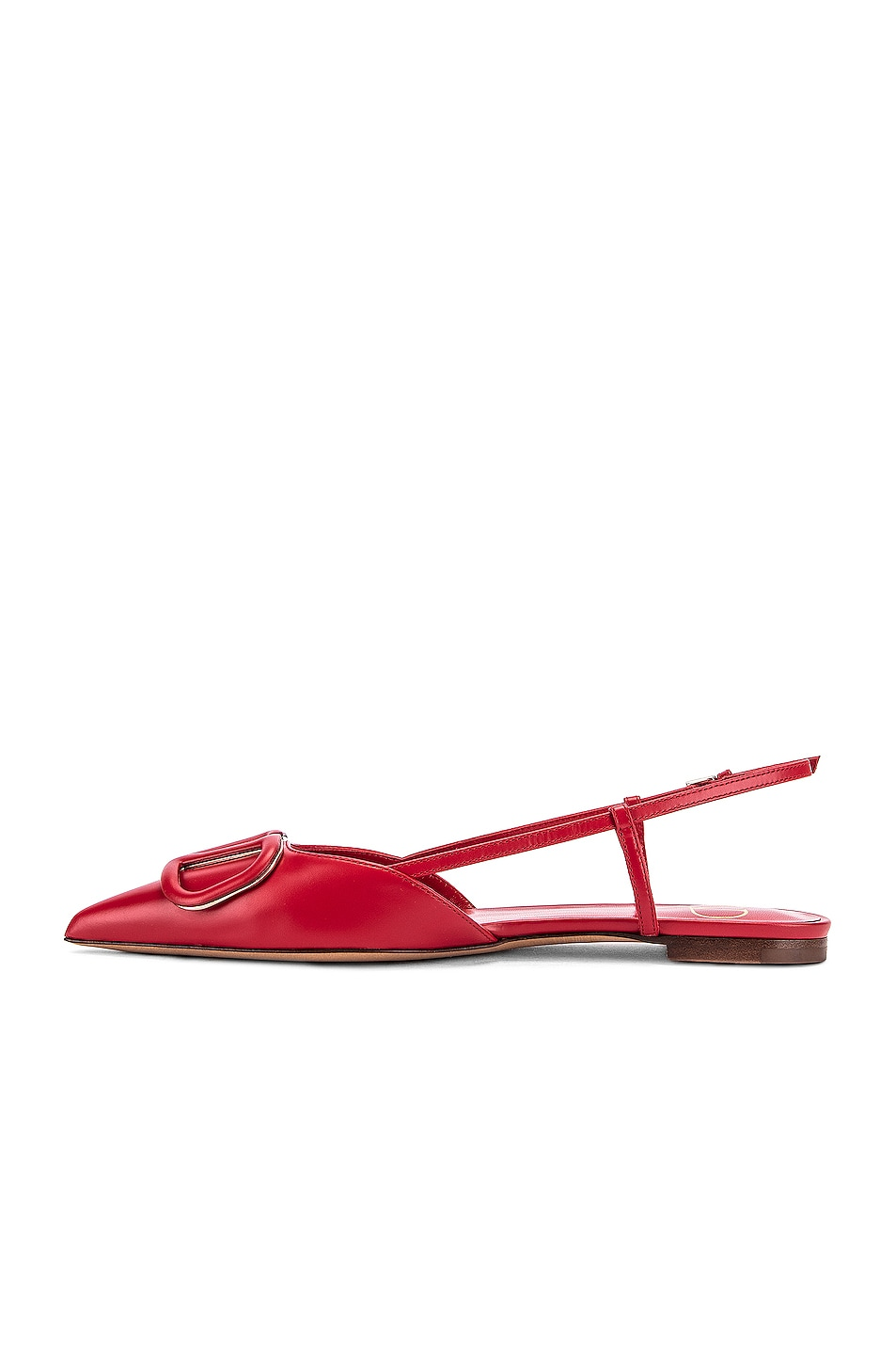 Image 4 of Valentino VLogo Ballerina Flats in Red