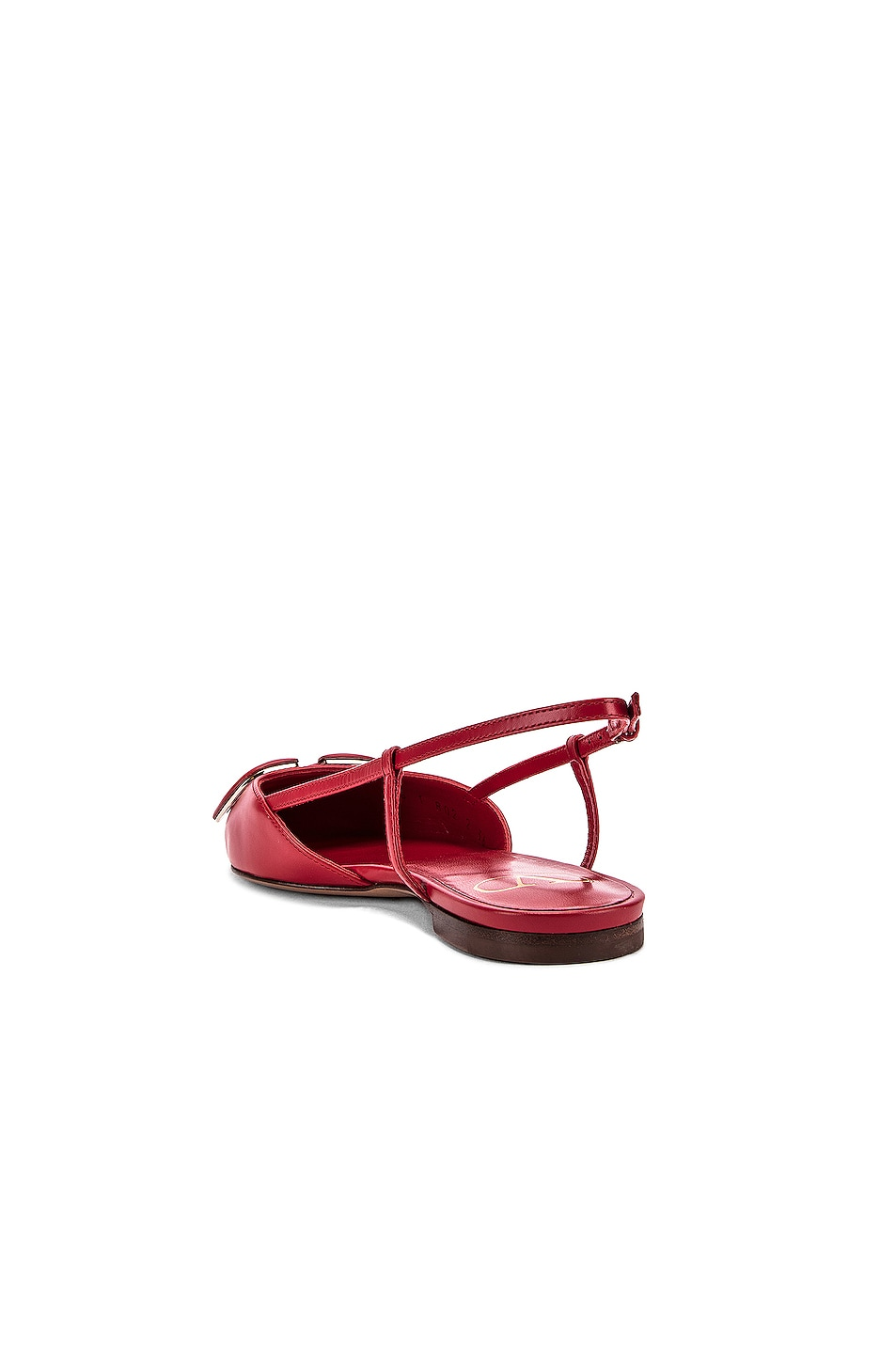 Image 5 of Valentino VLogo Ballerina Flats in Red