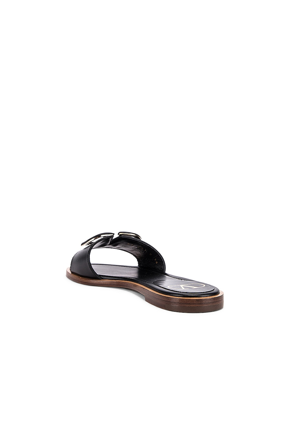 Image 4 of Valentino Vlogo Slides in Black