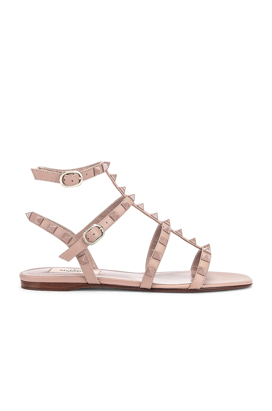 Image 1 of Valentino Rockstud Sandals in Poudre