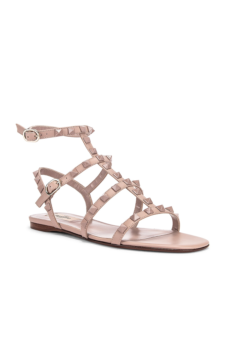 Image 2 of Valentino Rockstud Sandals in Poudre