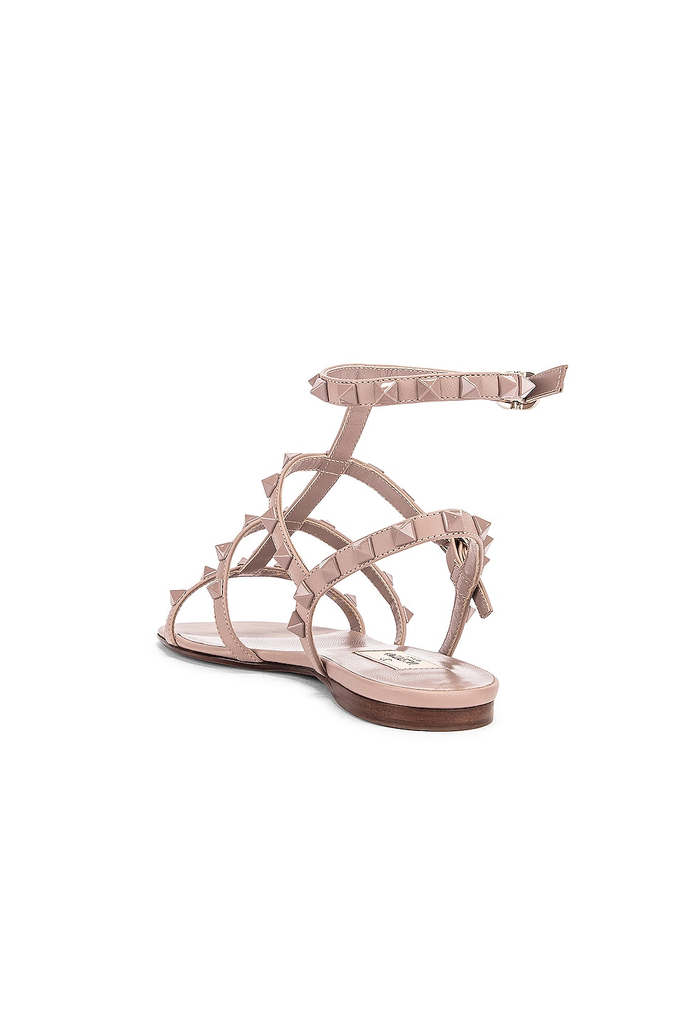 Image 3 of Valentino Rockstud Sandals in Poudre