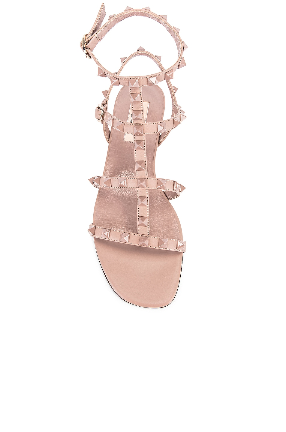 Image 4 of Valentino Rockstud Sandals in Poudre