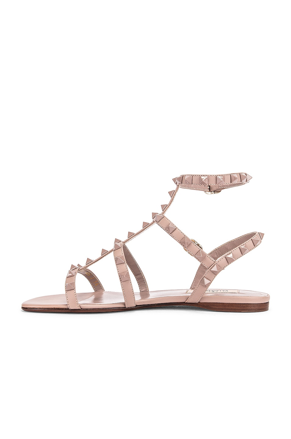 Image 5 of Valentino Rockstud Sandals in Poudre