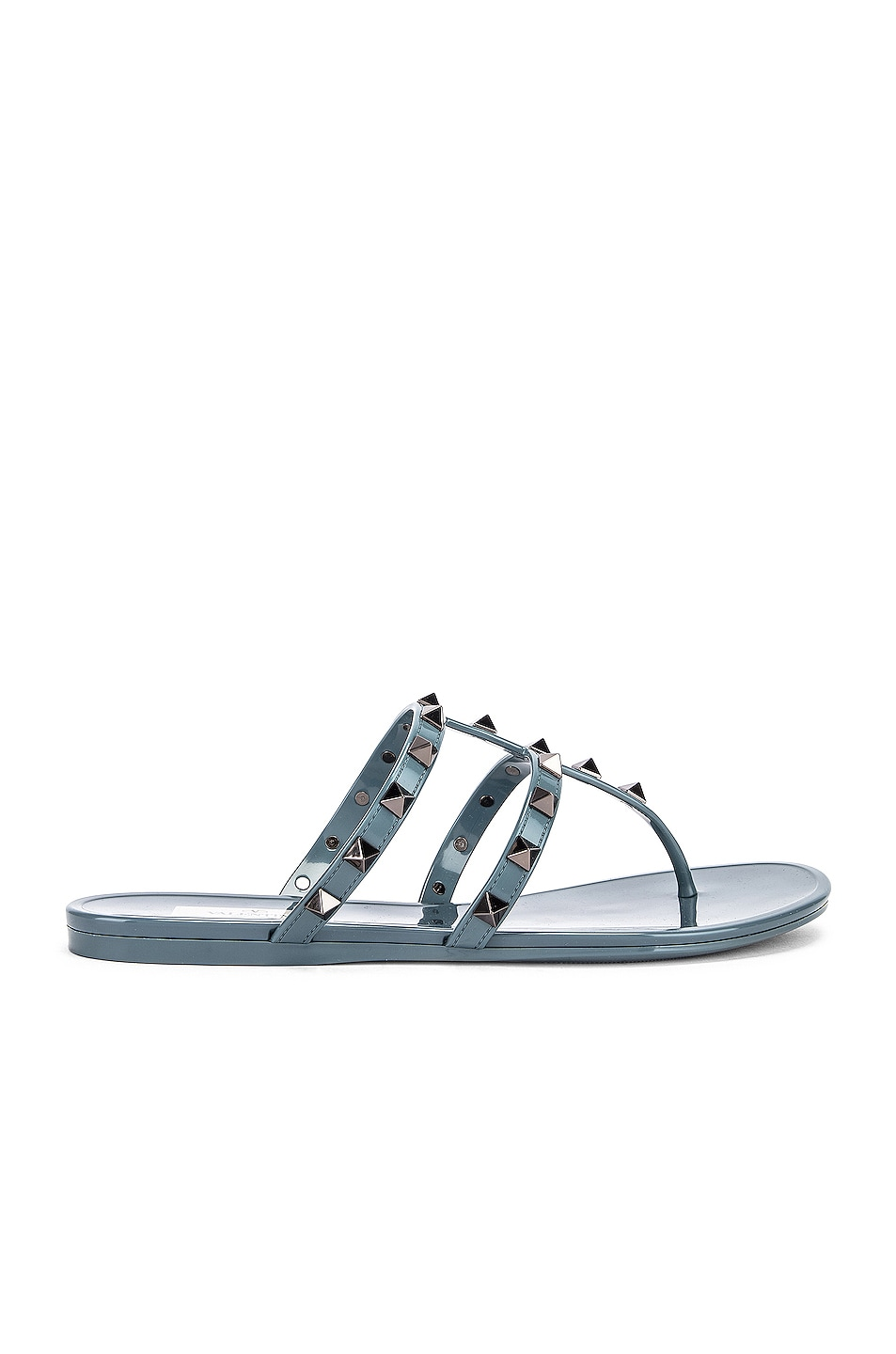 Image 1 of Valentino Rockstud Summer Thong Sandals in Amadeus