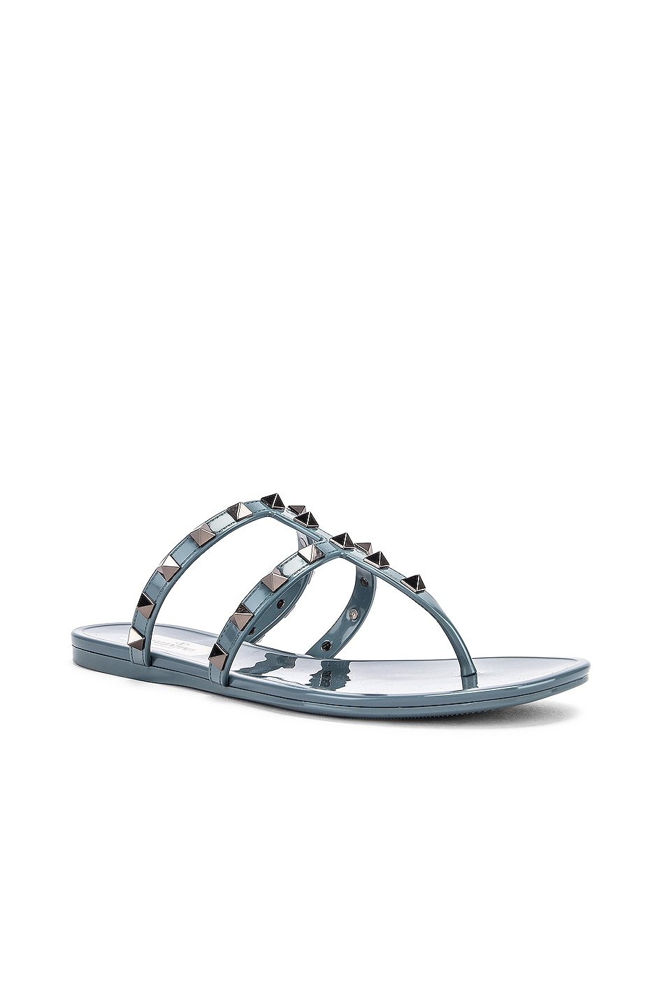 Image 2 of Valentino Rockstud Summer Thong Sandals in Amadeus