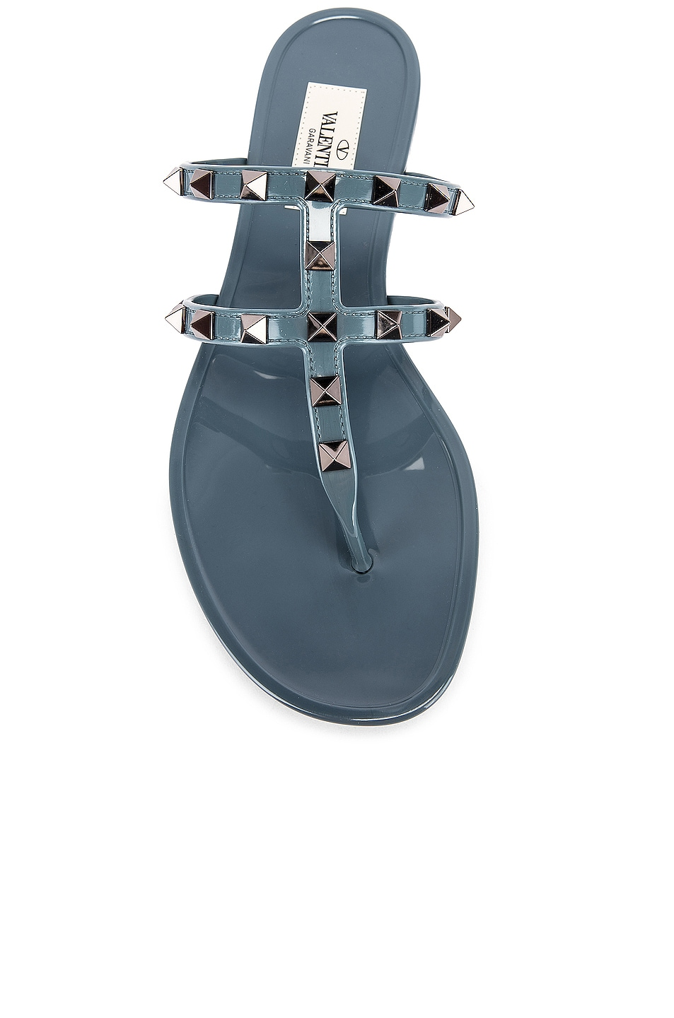 Image 4 of Valentino Rockstud Summer Thong Sandals in Amadeus