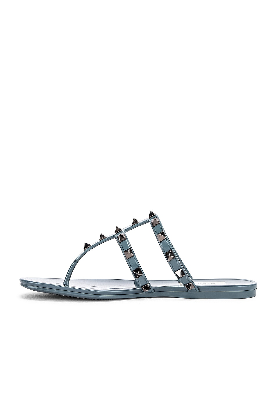 Image 5 of Valentino Rockstud Summer Thong Sandals in Amadeus