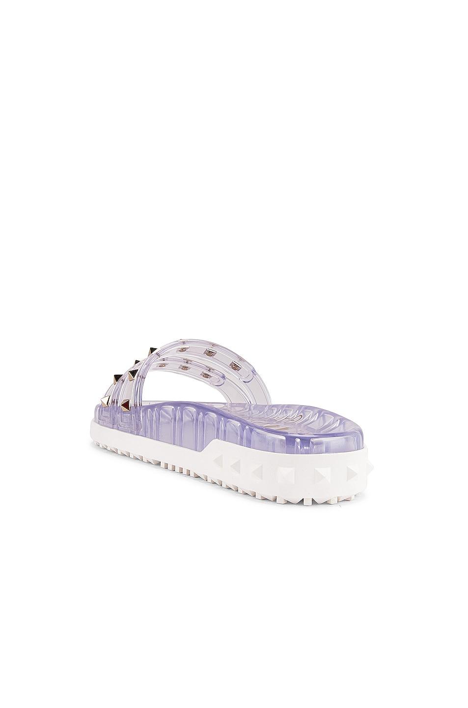 Image 4 of Valentino Rockstud Summer Slides in Transparent
