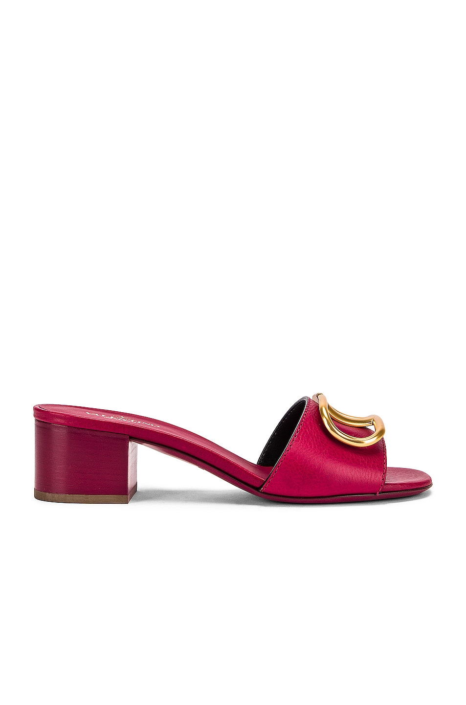Image 1 of Valentino Garavani Vlogo Slides in Raspberry Pink