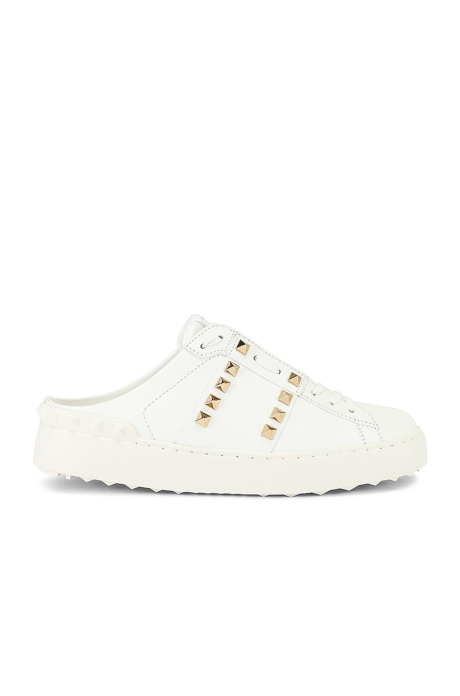 Image 1 of Valentino Garavani Rockstud Sneakers in Bianco
