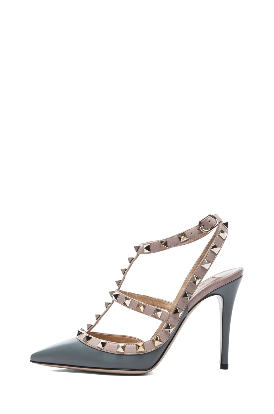 Image 1 of Valentino Rockstud Leather Slingbacks T.100 in Stone