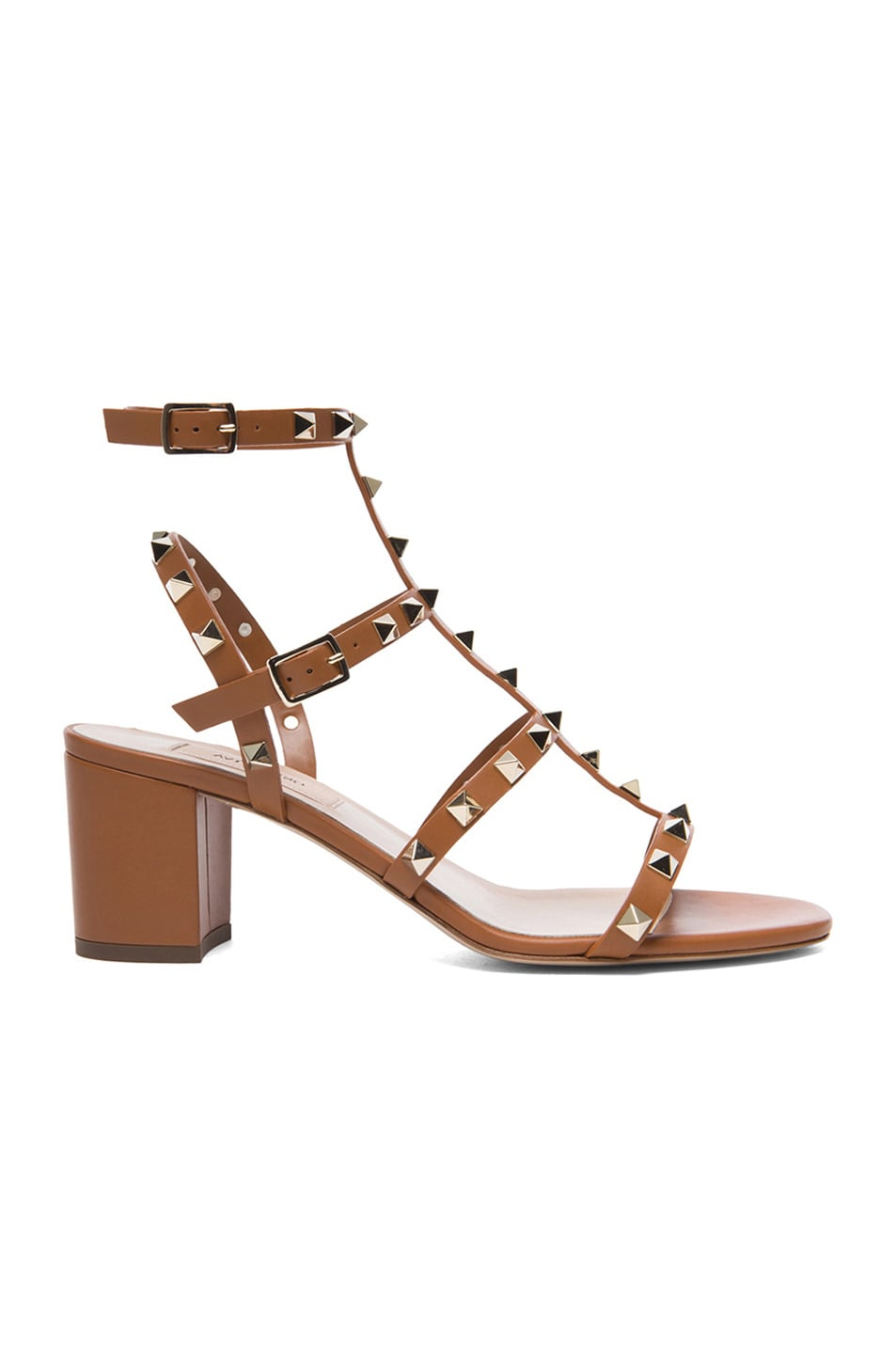 37a2f2fb1901 Image 1 of Valentino Rockstud Leather Sandals T.60 in Light Cuir