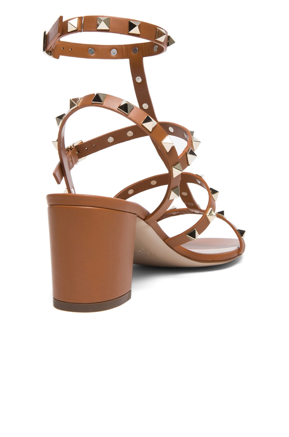 aec872886492 Image 3 of Valentino Rockstud Leather Sandals T.60 in Light Cuir