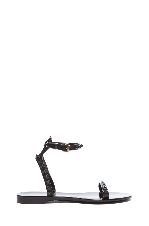 Image 1 of Valentino Garavani Rockstud PVC Jelly Sandals in Black