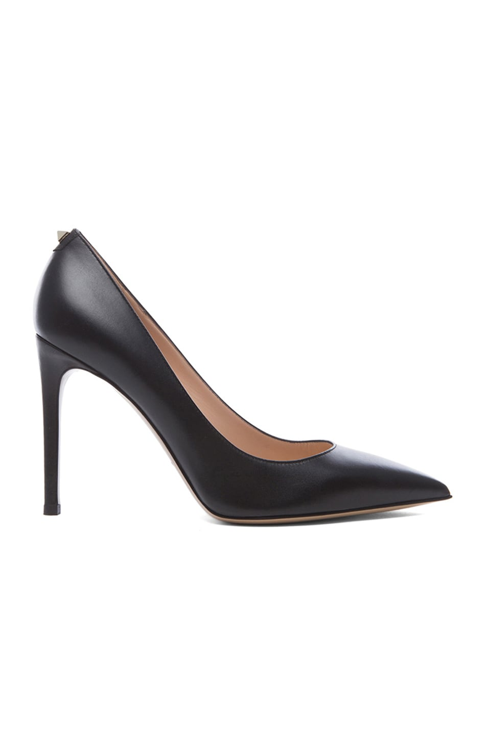 Image 1 of Valentino New Plain Leather Pumps T.100 in Nero