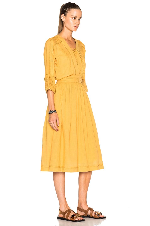 Image 3 Of Vanessa Bruno Estonie Dress In Ocre