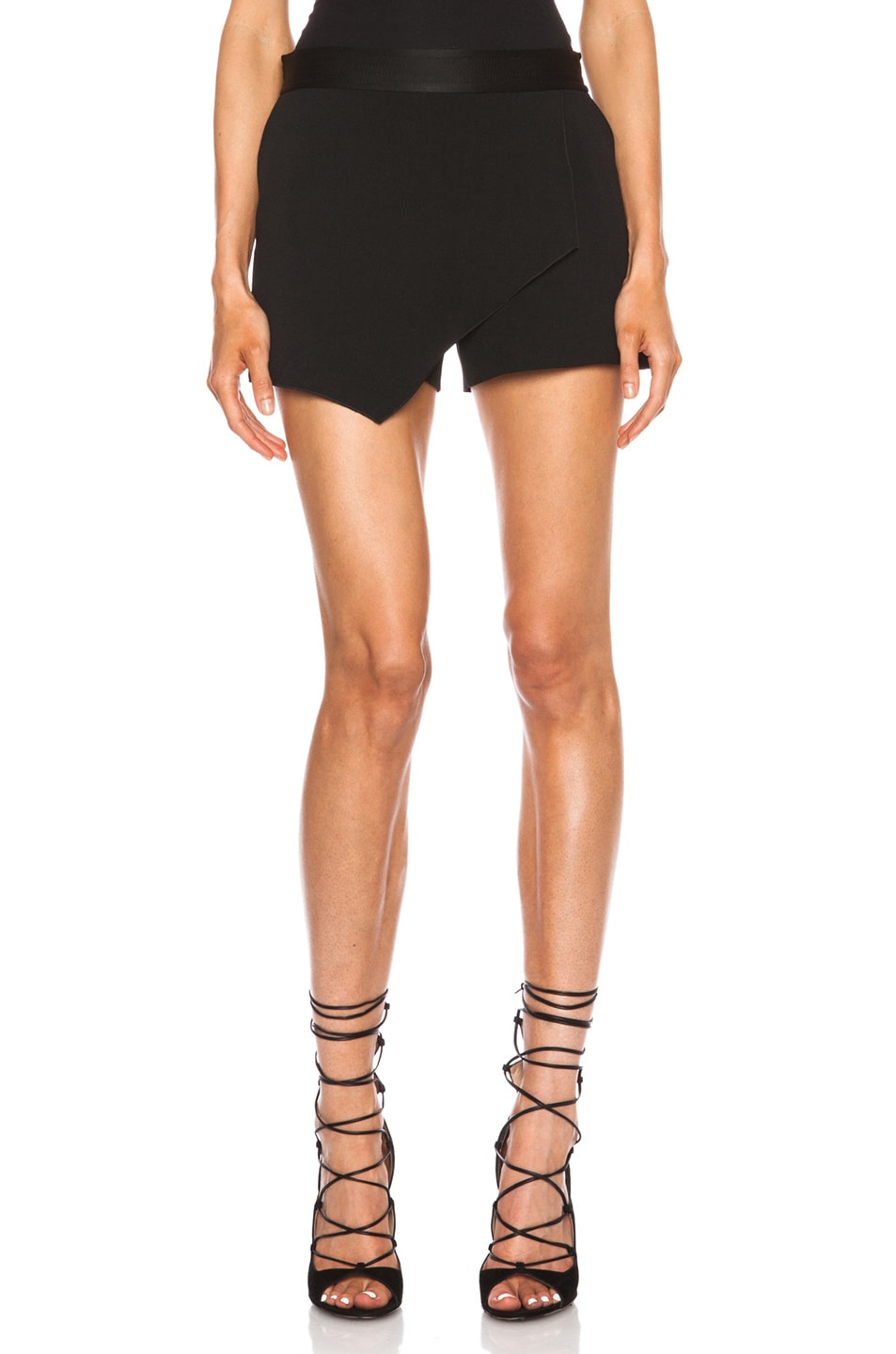 Image 1 of Vanessa Bruno Babylone Acetate-Blend Skort in Noir