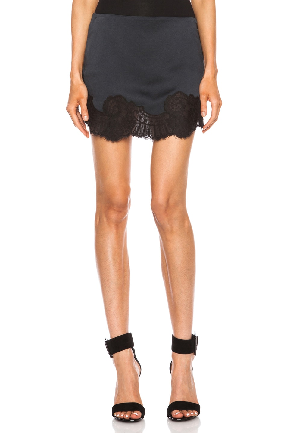 Image 1 of Vanessa Bruno Birmingham Lace Acrylic-Blend Skirt in Nocturne