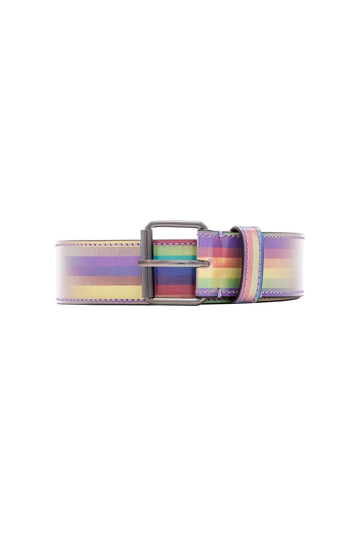 Image 1 of VETEMENTS Hologram Belt in Rainbow