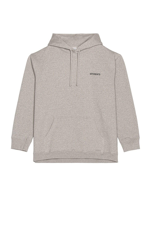 Image 1 of VETEMENTS Logo Hoodie in Grey