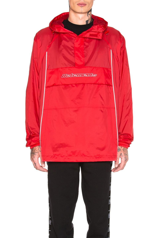 Image 2 of VETEMENTS Overhead Nylon Jacket in Red