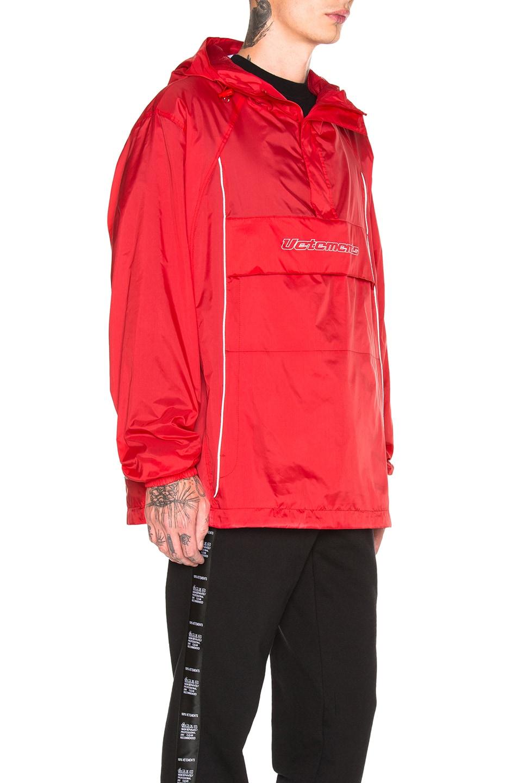 Image 3 of VETEMENTS Overhead Nylon Jacket in Red