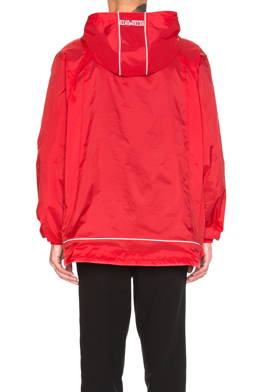 Image 4 of VETEMENTS Overhead Nylon Jacket in Red
