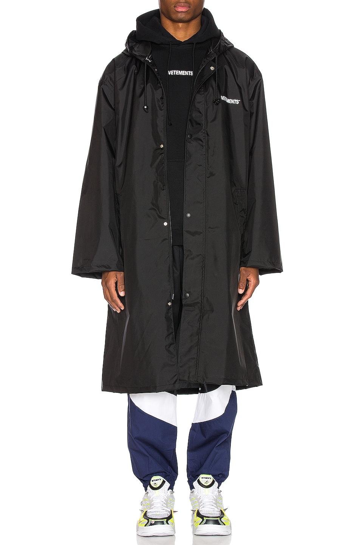 Image 1 of VETEMENTS Copyright Raincoat in Black & White