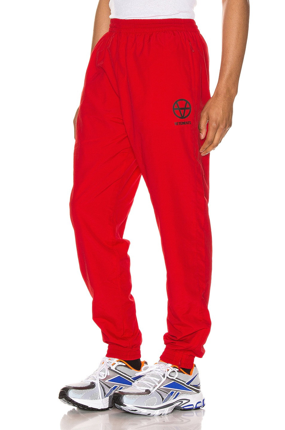 Image 1 of VETEMENTS Anarchy Tracksuit Pants in Red