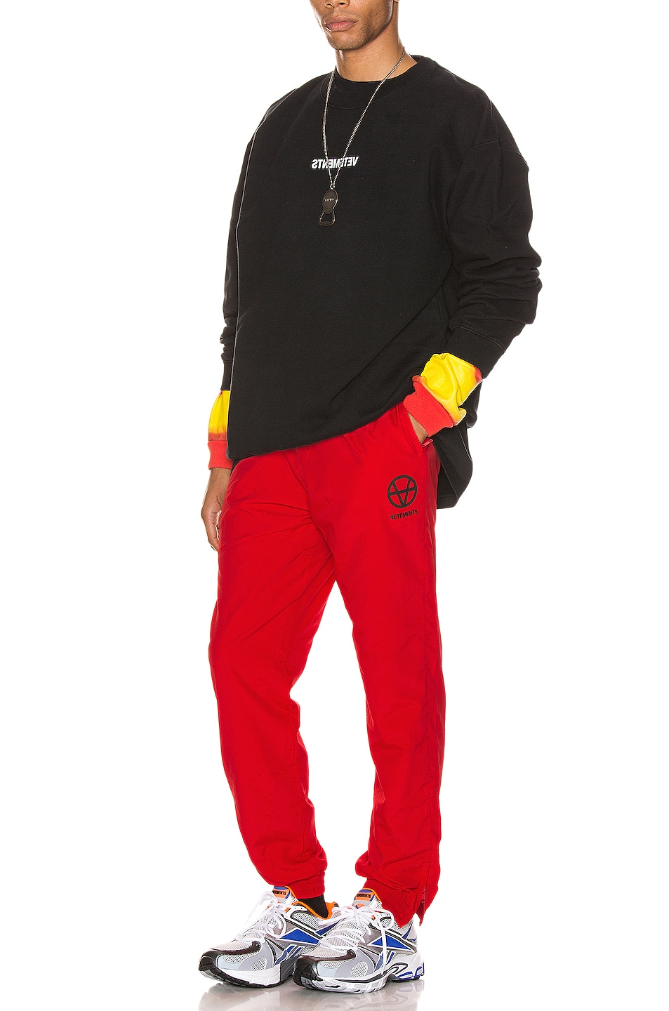 Image 5 of VETEMENTS Anarchy Tracksuit Pants in Red