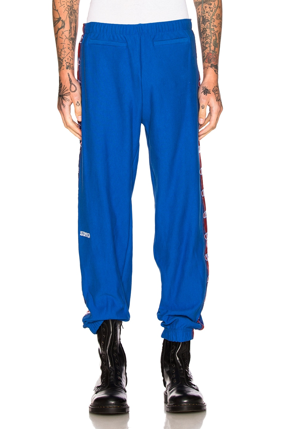 b94f13c13 Image 2 of VETEMENTS x Champion Tape Track Pants in Blue