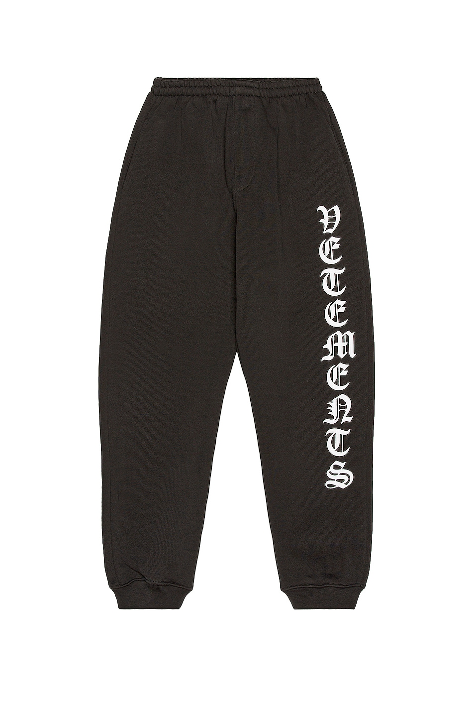 Image 1 of VETEMENTS Gothic Font Sweatpants in Black