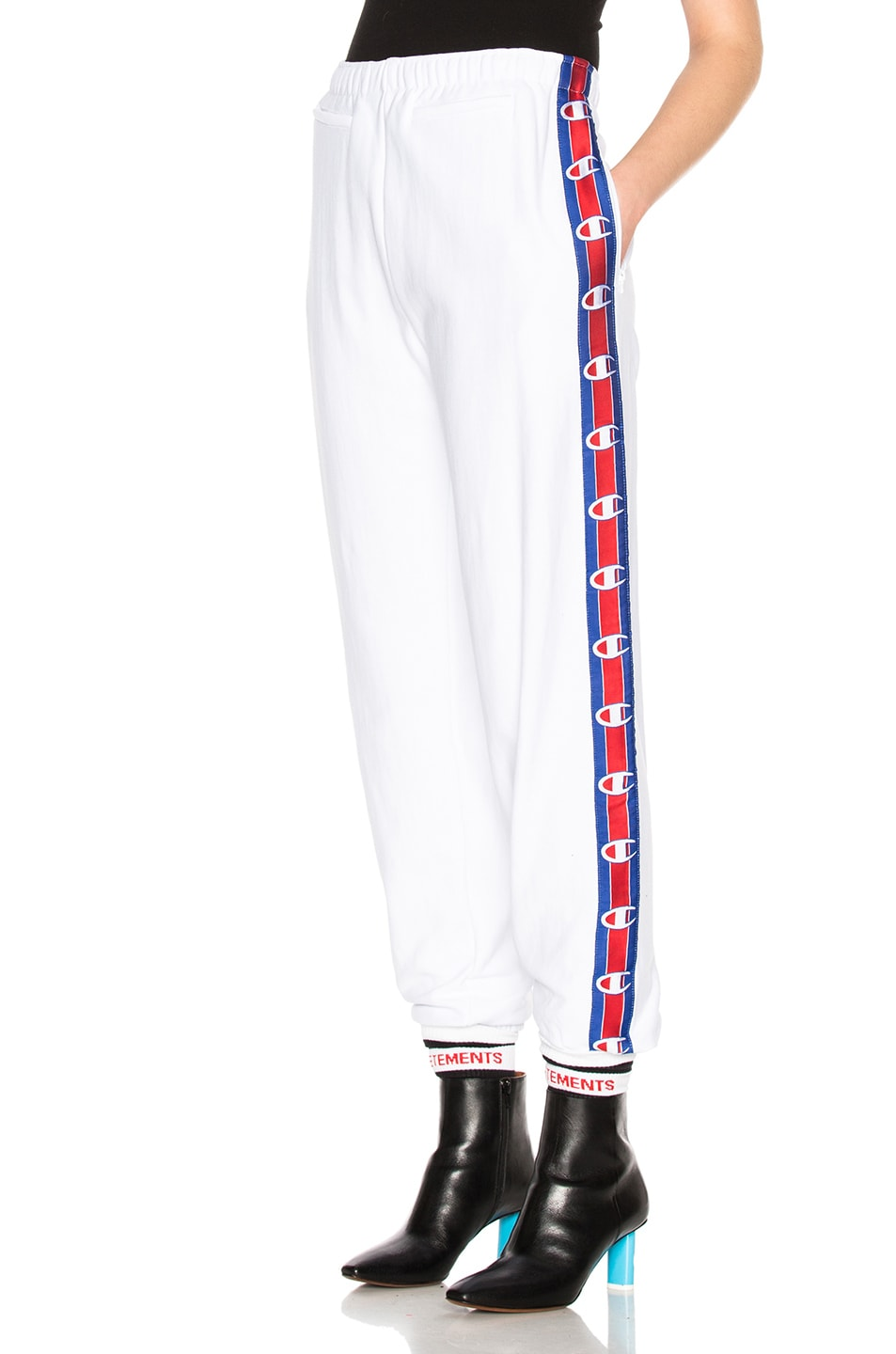 a06729a6 Image 3 of VETEMENTS x Champion Tape Track Pants in White