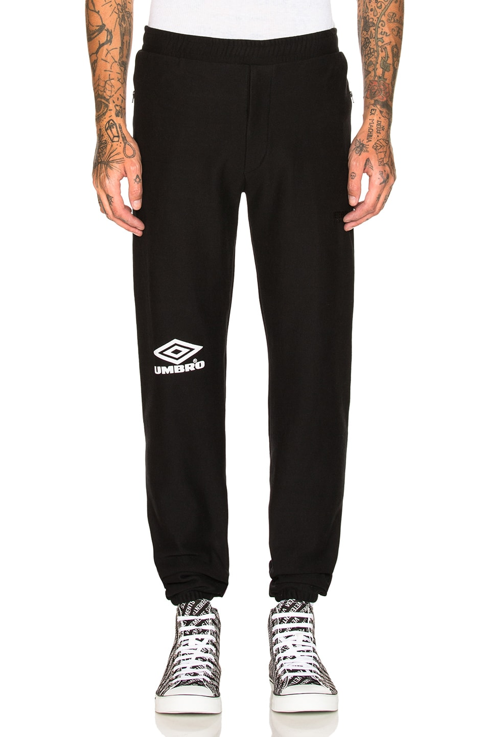 Image 1 of VETEMENTS x Umbro Sweatpants in Black   White c217bf30a91b