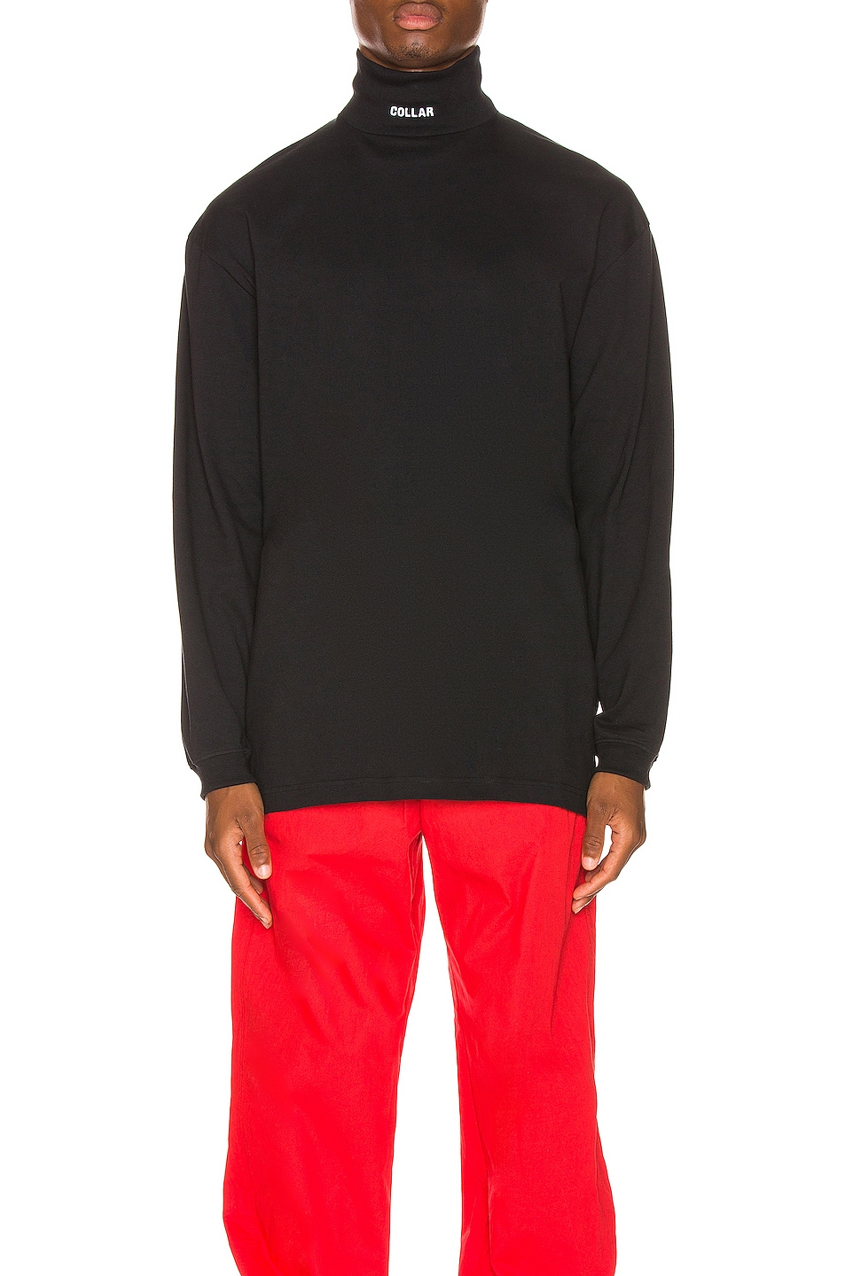 Image 2 of VETEMENTS Collar Turtleneck in Black