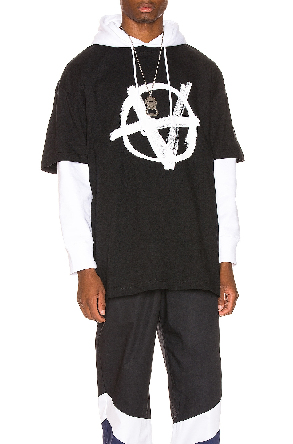 Vetements Accessories Anarchy Front Tee