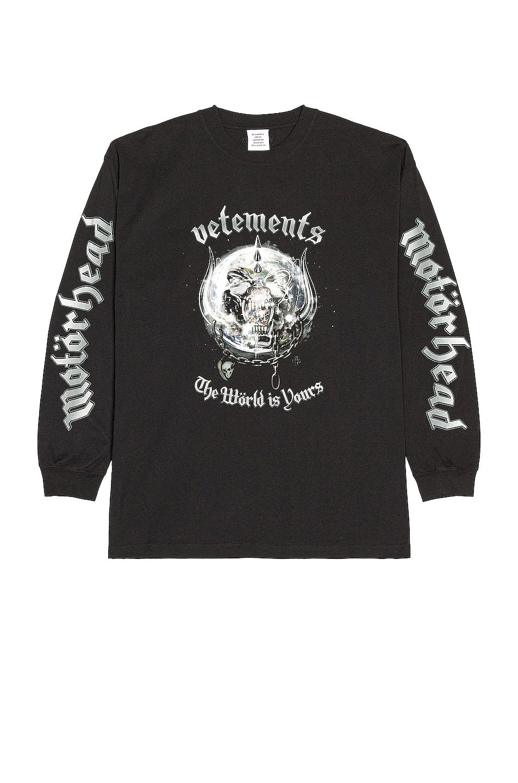 Image 1 of VETEMENTS Vetements X The World Motorhead Longsleeve in Black