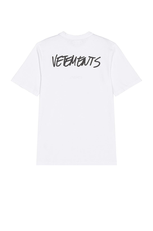 Image 1 of VETEMENTS Written Logo T-Shirt in White
