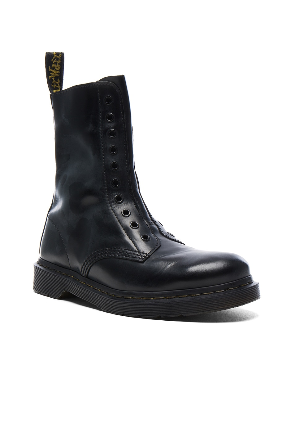 Image 1 of VETEMENTS x Dr. Martens Leather Borderline Boots in Black