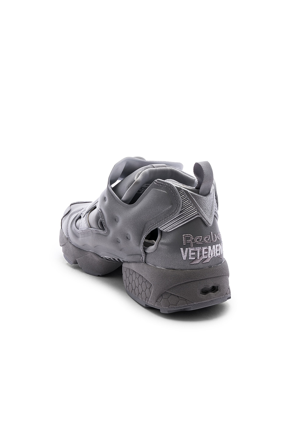 Image 3 of VETEMENTS Instapump Fury in Grey Reflective