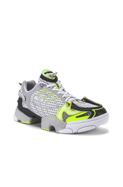 Image 1 of VETEMENTS Spike Runner 400 Sneaker in Fluo Yellow