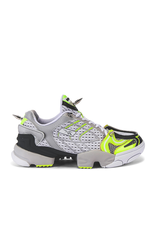 Image 2 of VETEMENTS Spike Runner 400 Sneaker in Fluo Yellow