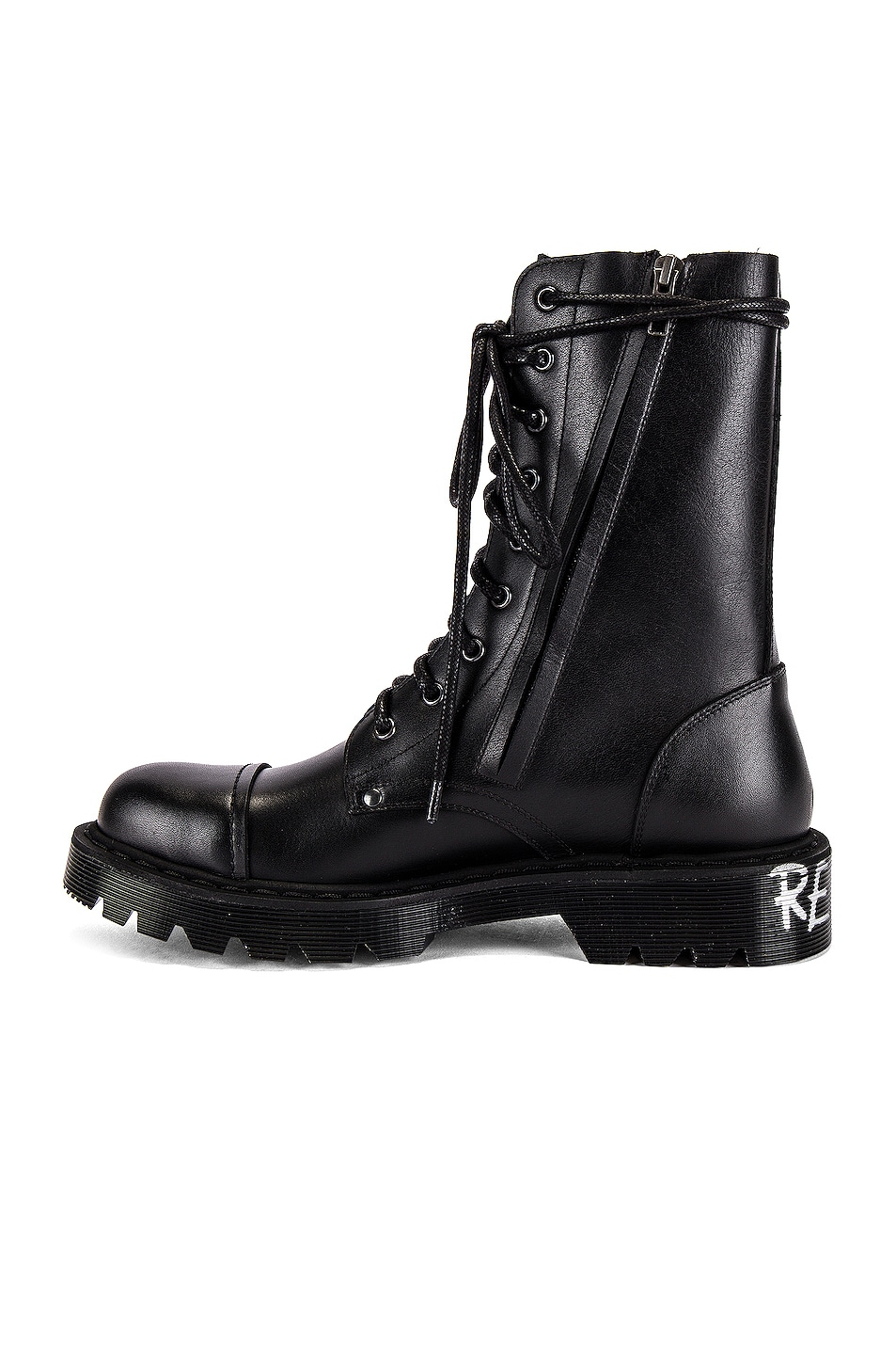 Image 5 of VETEMENTS Dominium In Rectum Army Boots in Black