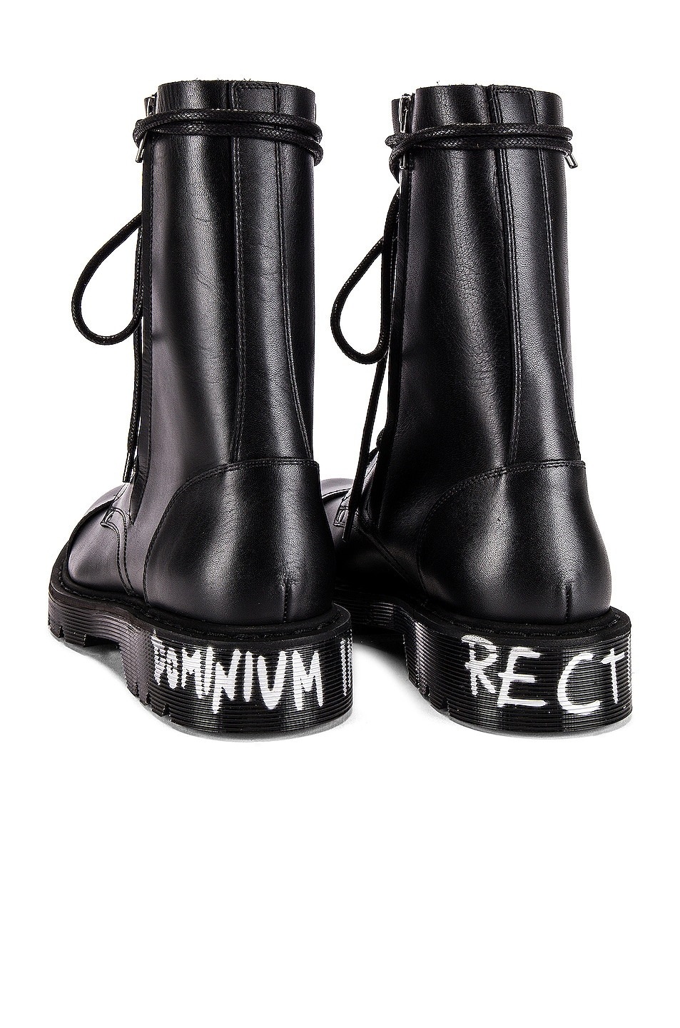 Image 6 of VETEMENTS Dominium In Rectum Army Boots in Black