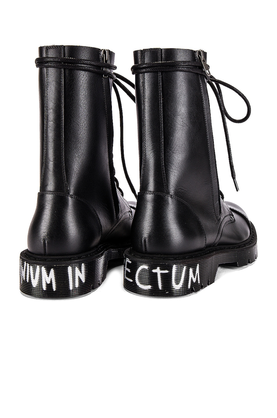 Image 7 of VETEMENTS Dominium In Rectum Army Boots in Black