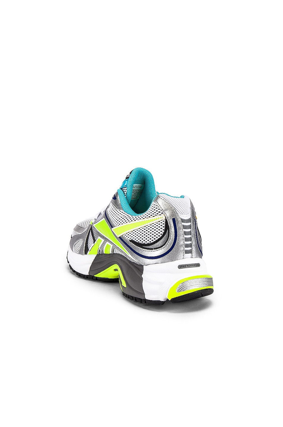 Image 3 of VETEMENTS Spike Runner 200 in White & Silver & Lime