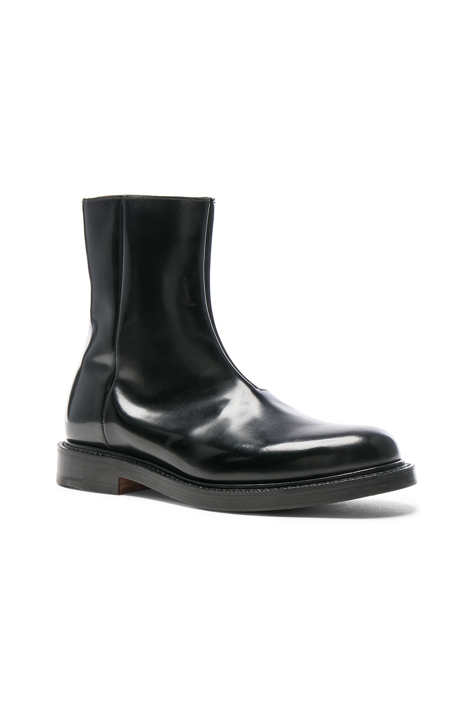 Image 1 of VETEMENTS x Church's Logo Leather Ankle Boots in Black