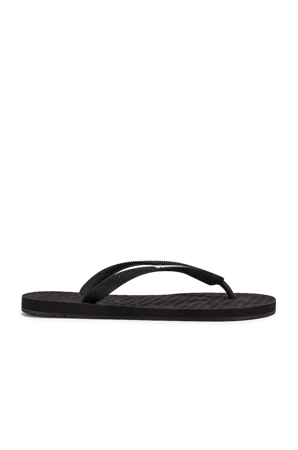 Image 1 of VETEMENTS Classic Logo Flip Flops in Black