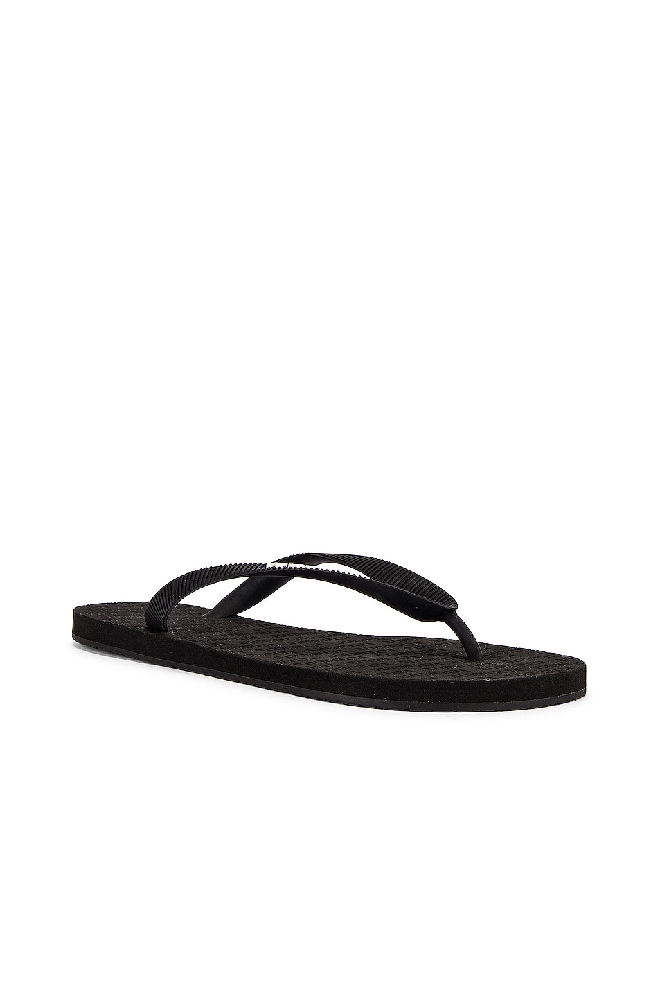 Image 2 of VETEMENTS Classic Logo Flip Flops in Black